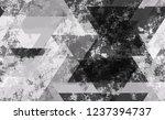 seamless grunge tech geometric... | Shutterstock .eps vector #1237394737