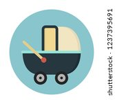 baby stroller carriage | Shutterstock .eps vector #1237395691