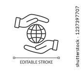 corporate social responsibility ...   Shutterstock .eps vector #1237397707