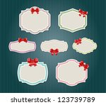 vintage labels   tags with... | Shutterstock .eps vector #123739789
