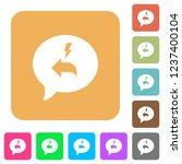quick reply message flat icons... | Shutterstock .eps vector #1237400104