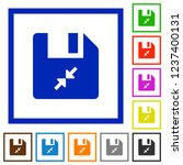 compress file flat color icons...   Shutterstock .eps vector #1237400131