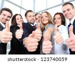 successful young business... | Shutterstock . vector #123740059