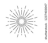 sunburst design on white vector | Shutterstock .eps vector #1237403047