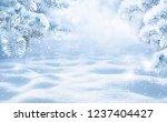 winter christmas scenic...   Shutterstock . vector #1237404427