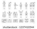 quiz show linear icons set.... | Shutterstock .eps vector #1237410544