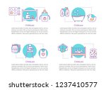 childcare concept icons.... | Shutterstock .eps vector #1237410577