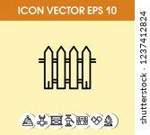fence icon vector   Shutterstock .eps vector #1237412824