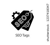 seo tags glyph icon. meta tags. ... | Shutterstock .eps vector #1237418347
