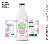 bottle label  package template... | Shutterstock .eps vector #1237424734