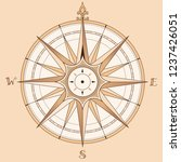 sea compass at vintage style.... | Shutterstock .eps vector #1237426051