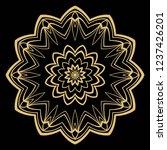 vector floral mandala. vintage...   Shutterstock .eps vector #1237426201