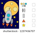 puzzles for children. we learn...   Shutterstock .eps vector #1237436707