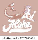 aloha. vector handwritten...   Shutterstock .eps vector #1237443691