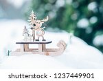 christmas winter holiday... | Shutterstock . vector #1237449901