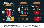 how to make mulled  wine ... | Shutterstock .eps vector #1237459624