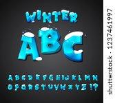 cartoon alphabet set. creative... | Shutterstock .eps vector #1237461997
