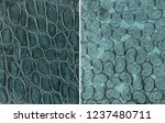 teal pebble embossed leather...   Shutterstock . vector #1237480711