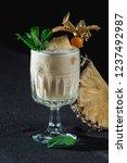 pina colada cocktail. exemplary ... | Shutterstock . vector #1237492987