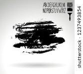 black brush stroke and... | Shutterstock .eps vector #1237493854