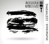 black brush stroke and... | Shutterstock .eps vector #1237493941