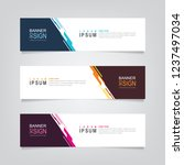 vector abstract banner design... | Shutterstock .eps vector #1237497034
