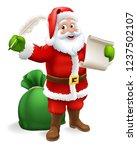 santa claus checking christmas... | Shutterstock .eps vector #1237502107