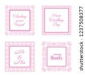 elegant lace border frames... | Shutterstock . vector #1237508377