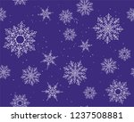 winter card snowflake pattern.... | Shutterstock . vector #1237508881