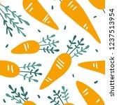 doodle carrot vector seamless... | Shutterstock .eps vector #1237513954