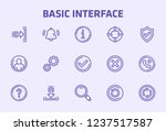 basic interface thin line icon...