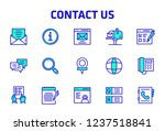 contact us thin line icon set | Shutterstock .eps vector #1237518841