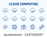 cloud computing thin line icon... | Shutterstock .eps vector #1237520497