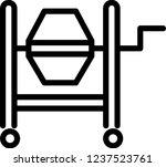 cement mixer icon | Shutterstock .eps vector #1237523761