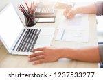 business man working at office... | Shutterstock . vector #1237533277