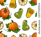 cute seamless background of... | Shutterstock .eps vector #1237535914