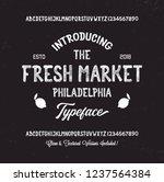 retro styled modern font.... | Shutterstock .eps vector #1237564384