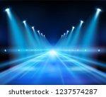 illuminated street at night.... | Shutterstock .eps vector #1237574287