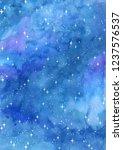 starry night sky watercolor... | Shutterstock . vector #1237576537