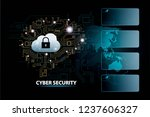 cyber security global... | Shutterstock . vector #1237606327