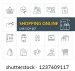 shopping online line icon set.... | Shutterstock .eps vector #1237609117