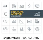 financial analysis line icon... | Shutterstock .eps vector #1237613287