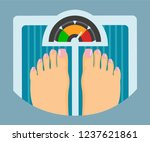 diet and weight loss concept ... | Shutterstock .eps vector #1237621861