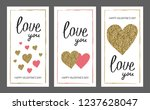 valentine's day greeting card... | Shutterstock .eps vector #1237628047