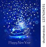 abstract light blue christmas... | Shutterstock .eps vector #1237634251
