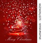 abstract light red christmas... | Shutterstock .eps vector #1237634254