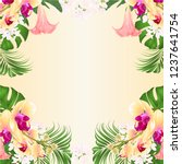 floral frame background witht... | Shutterstock .eps vector #1237641754