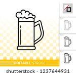 beer mug thin line icon....   Shutterstock .eps vector #1237644931
