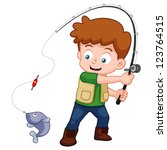 Illustration Of Cartoon Boy...