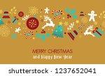 christmas element icons banner... | Shutterstock .eps vector #1237652041
